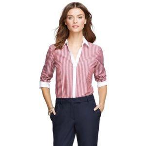 NWT Brooks Borthers Striped Non Iron Shirt